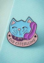 60s End Catcalling Enamel Pin