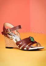 70s Wanda Cactus Wedges in Brown