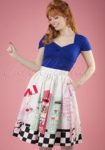 50s Candy Shop Swing Skirt in Multi