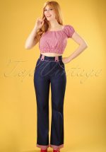 50s J'adore Trousers in Navy