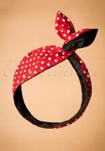 50s I Want Polkadots In My Hair Scarf in Red and Black
