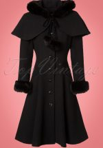 40s Adelita Coat and Cape in Black