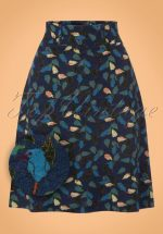 60s Freeze Skirt in Blue