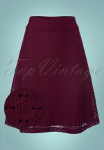 60s Gul Skirt in Aubergine