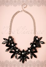 20s Diana Flower Necklace in Black