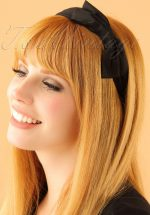 50s Bow Head Band in Black
