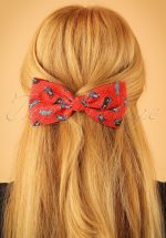 50s Cat Hair Bow in Red