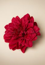 50s Flower Hair Clip & Brooch in Red