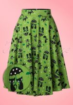 50s Amelia Cat Skirt in Green