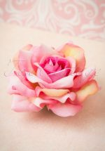 50s A Rose Is A Rose Is A Rose In Ombre Hair Clip Brooch