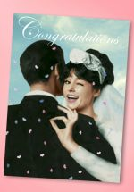 50s Wedding Congratulations Greeting Card