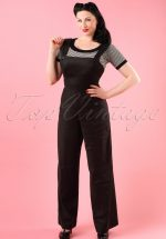 40s Penny Dungaree in Black