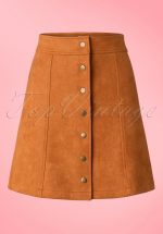 70s India A-Line Skirt in Rust