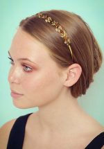 20s Sara Sparkly Leaves Hairband in Gold