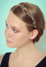 20s Tamara Crystal Leaves Hairband in Gold