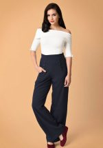 40s Ginger Sailor Trousers in Navy