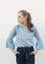 Grace and Mila - Pierrot Blouse Blue
