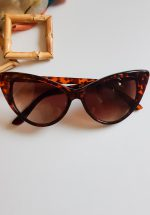 Cateye Sunglasses Tortoiseshell Red/Brown