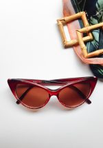 Cateye Sunglasses Red Tortoise
