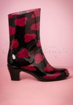 1a1b7ce08af 60s Rosie Rain Boots in Black. ""