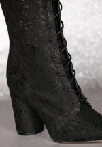 01e09167fad 70s Racer Mesh Lace Boots in Black