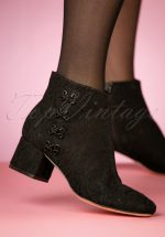 7bd769484f2 70s Glyn Mesh Lace Booties in Black